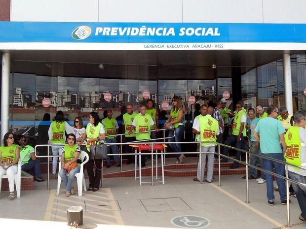 Greve dos servidores do INSS começou dia 9 de julho (Foto: Tássio Andrade/G1)