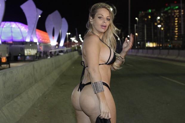 Jéssica Lopez no Rock in Rio (Foto: Isac Luz / EGO)