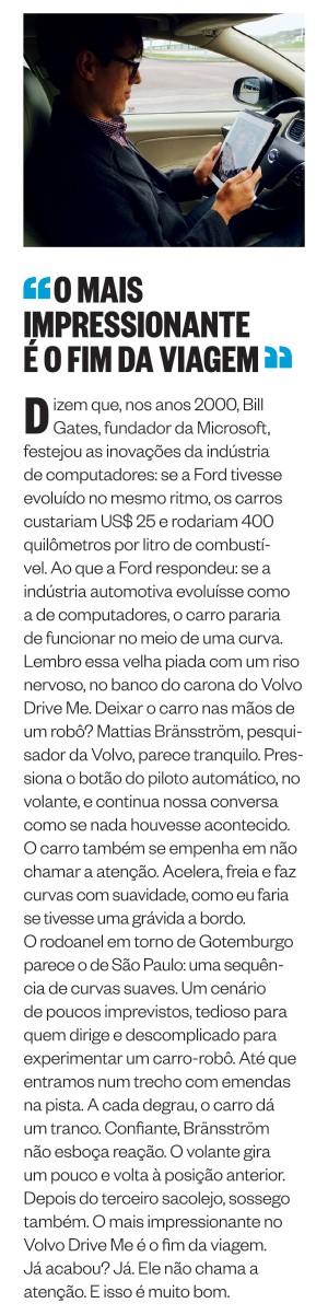 PASSAGEIRO Marcelo Moura, editor de ÉPOCA,  no carro que dirige sozinho (Foto: arq. pessoal)