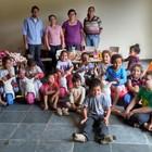 Escola recebe brinquedos e materiais