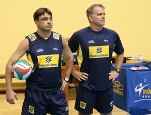Rubinho e Bernardinho (Foto: Alexandre Arruda/CBV)