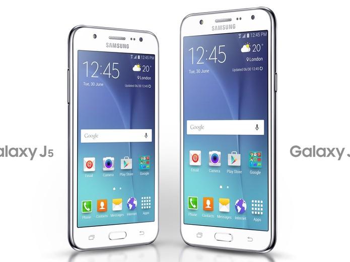 Galaxy J5 e Galaxy J7 serão apresentados à imprensa nesta semana (Foto: Reprodução/Site oficial da Samsung)