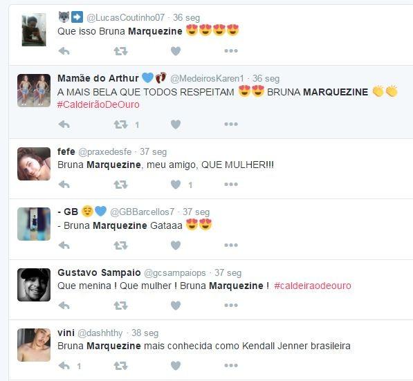 Bruna Marquezine bomba na web (Foto: Reprodução/Twitter)