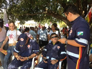 Socorristas do Samu aderem greve e trabalham em 50% (Foto: Neidiana Oliveira/G1)