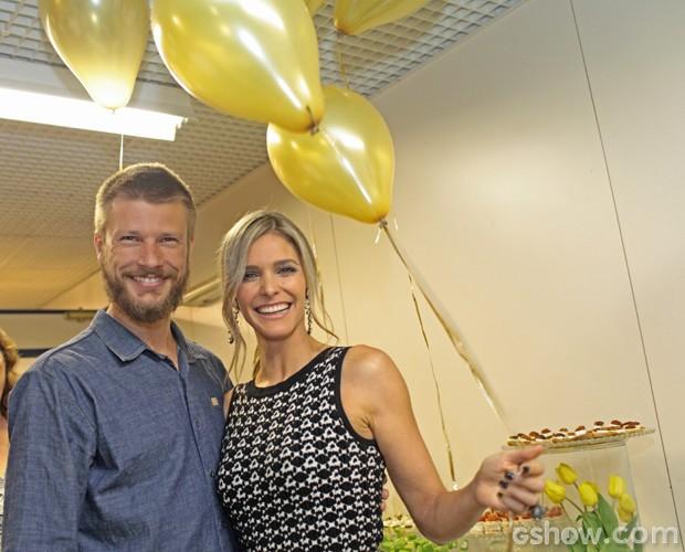 Rodrigo Hilbert visita a esposa pela primeira vez no SuperStar (Foto: Camila Serejo / TV Globo)