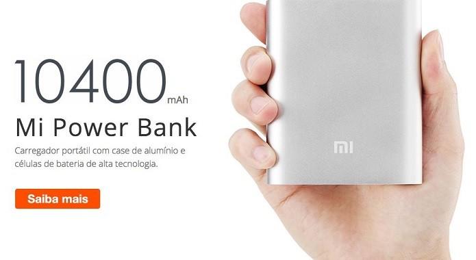 Carregador portáril Mi Power Bank finalmente chega ao Brasil (Foto: Divulgação/Xiaomi)