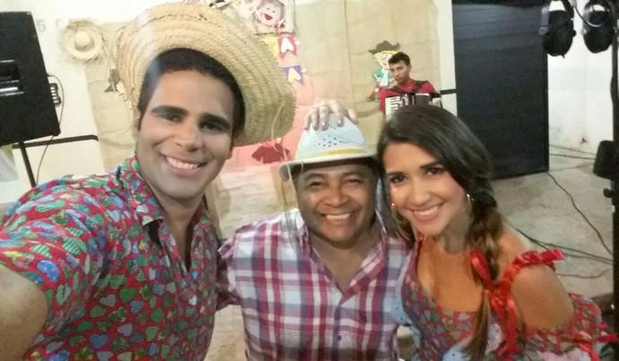Gonzaga Lu anima a festa do Programão com muito forró pé de serra (Foto: Gshow/ Rede Clube)