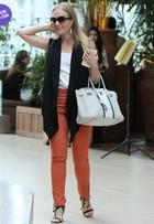 Look do dia: Angélica usa maxicolete para passear em shopping no Rio