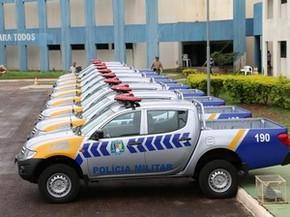 Viaturas foram entregues para a Polícia Militar de quatro cidades do Tocantins (Foto: Ademir dos Anjos/ATN)