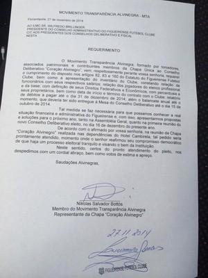 documento figueirense estatuto eleições (Foto: Reprodução)