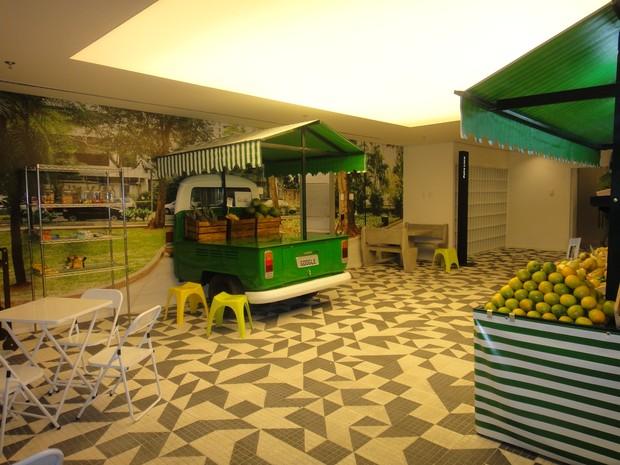 Refeitório da nova sede do Google é inspirado em feira  (Foto: Divulgação)