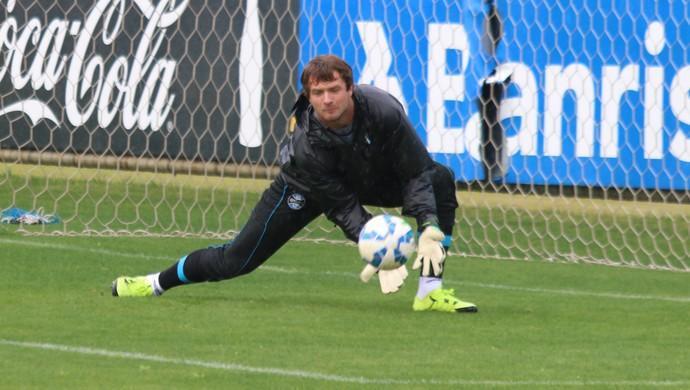 Tiago goleiro do Grêmio (Foto: Eduardo Moura/GloboEsporte.com)