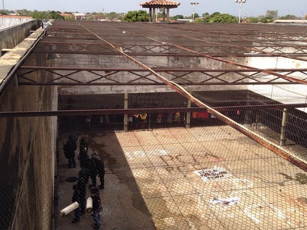 Presos foram contidos após rebelião de mais de 10h na Casa de Custódia (Foto: Divulgação/Sejus)