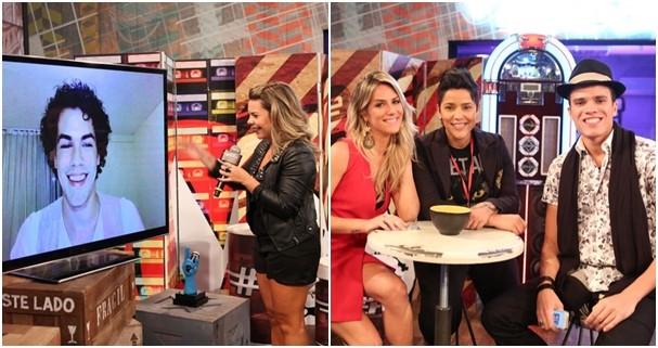 Sam Alves e Marcos Lessa foram convidados de Fê Souza no #PréTVB (Foto: Isabella Pinheiro/TV Globo))