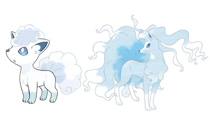 Vulpix e Ninetales na forma de Alola (Foto: Divulgação/Bulbapedia)