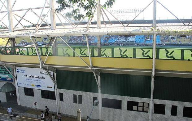 torcida laje final Volta Redonda (Foto: Fabio Leme)