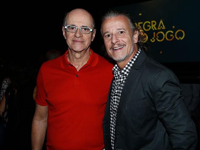 Marcos Caruso e Marcelo Novaes em nova parceria (Foto: Raphael Dias/TV Globo)