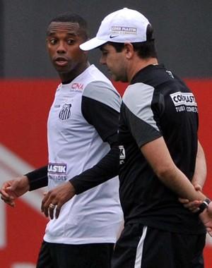 Robinho e Enderson Santos (Foto: Ivan Storti / Santos FC)