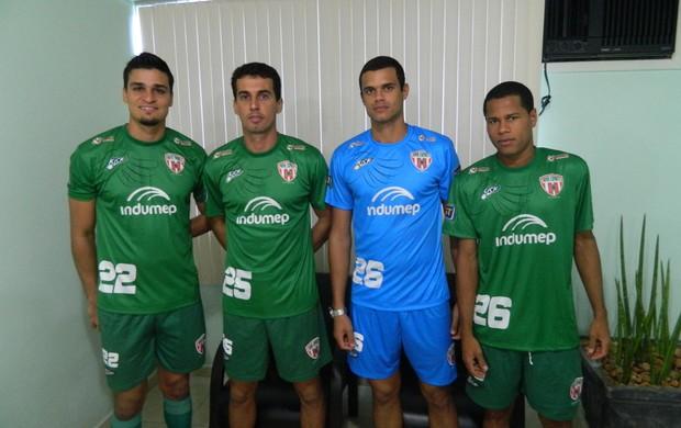 Thiago Neimar, Thiago Oliveira, Patrick e Denilson. (Foto: Kaleo Martins / Globoesporte.com)