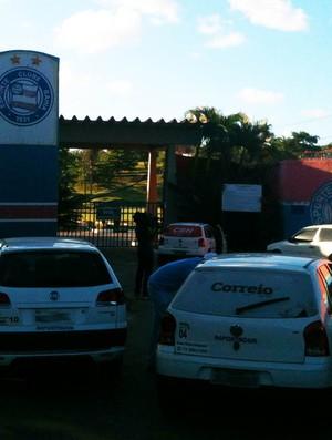 treino bahia portões fechados (Foto: Raphael Carneiro/Globoesporte.com)