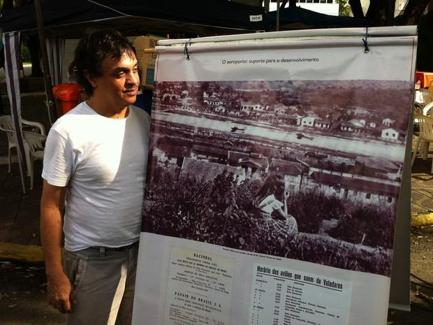 Nídio Porto, gerente do museu e coordenador da exposição. (Foto: Diego Souza/G1)
