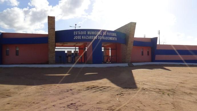 Fachada Estádio Nazarenão (Foto: Klênyo Galvão/GloboEsporte.com)
