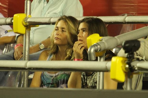 Claudia Abreu e o marido Rubem Fonseca nas semi finais do Rio Open (Foto: AGi9/PHOTO RIO NEWS)