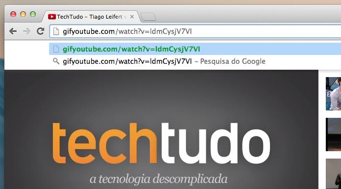 Acrescente o gif antes da URL do vídeo (Foto: Reprodução/Helito Bijora)