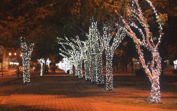 Ruas de Boa Vista recebem decoração de Natal (Foto: Roraima TV)