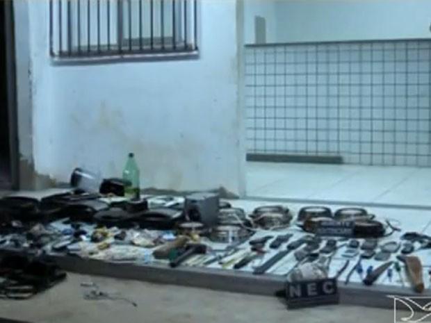 Unidade prisional de Balsas atende a 14 municípios da região sul do estado e está superlotada  (Foto: Reprodução / TV Mirante)