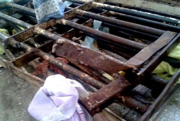 Grades de 18 celas foram arrancadas, no sábado (31), na Penitenciária Estadual de Parnamirim  (Foto: Divulgação/Polícia Militar do RN)