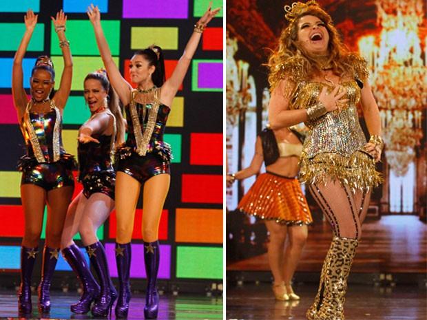 As meninas estão cada vez mais divas! O figurino não deixa dúvida... o de Chayene então... um luxo! (Foto: Cheias de Charme / TV Globo)
