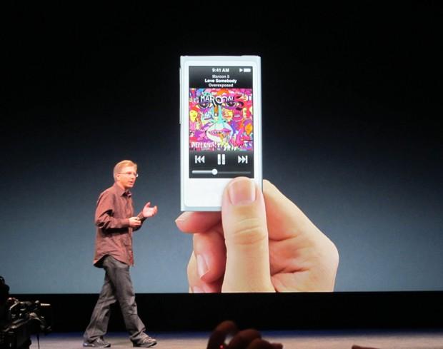 Novo iPod nano (Foto: Laura Brentano/G1)