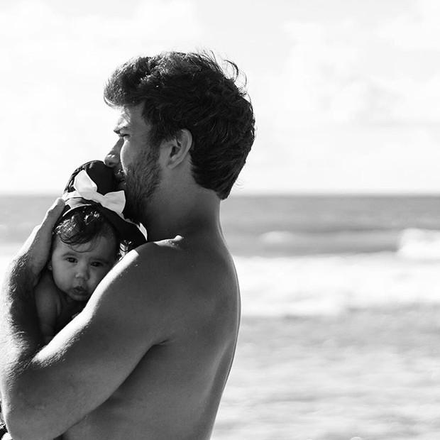 Hugo Moura e Maria Flor (Foto: Reprodução / Instagram)