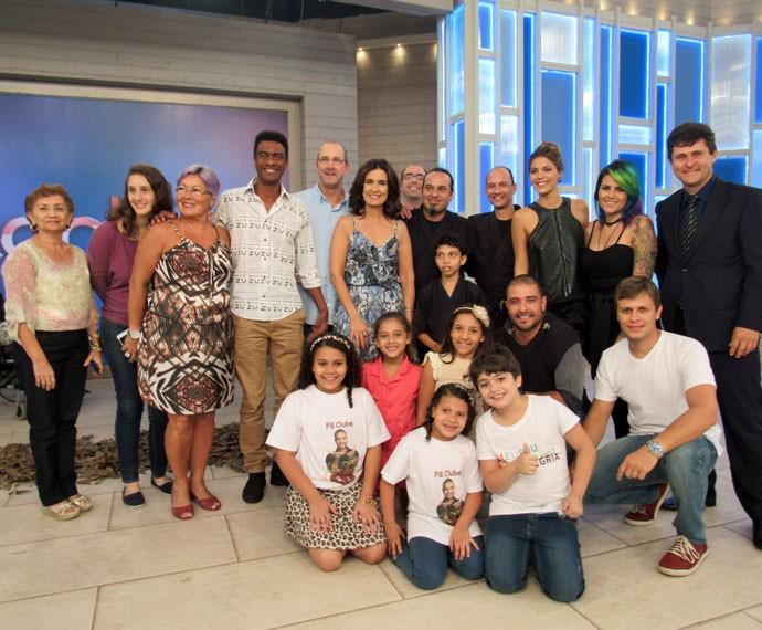 Fátima com todos os convidados do programa (Foto: Priscilla Massena/Gshow)