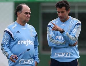 Marcelo Oliveira Alberto Valentim Palmeiras (Foto: Cesar Greco/Ag Palmeiras/Divulgação)