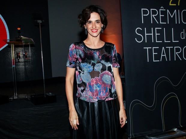 Mariana Lima em prêmio de teatro em São Paulo (Foto: Manuela Scarpa/ Foto Rio News)