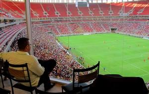 Estádio mané garrincha Funcionamento (Foto: Marcelo Baltar)