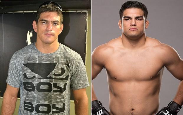 montagem UFC Paulo Thiago x Kelvin Gastelum (Foto: Editoria de Arte / Globoesporte.com)
