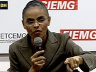 Marina Silva defende uso de energias alternativas e autonomia do BC