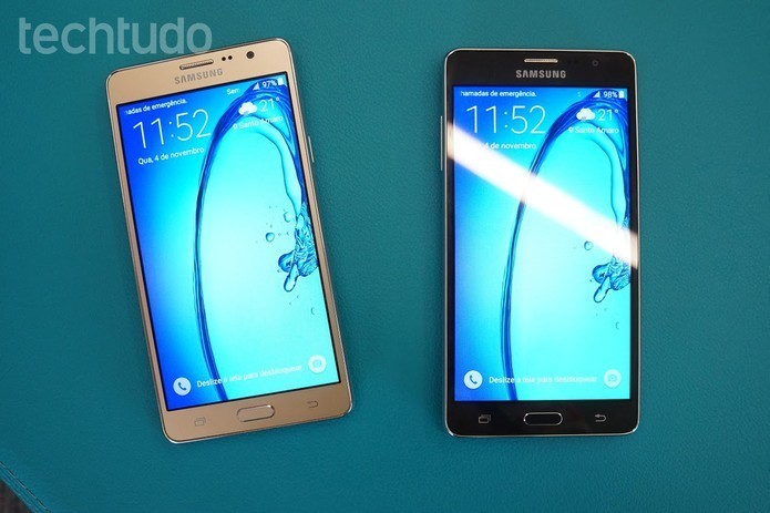 Galaxy On7 vem com processador quad-core e 8 GB de espaço interno Thassius Veloso TechTudo