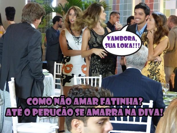 Olha o desespero do Bruninho pra tirar a Fatinha de perto do Thales! KKKKKKK (Foto: Malhação / Tv Globo)