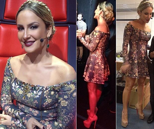 [Moda] Look de Claudia Leitte no The Voice Brasil (Foto: Instagram/Reprodução)