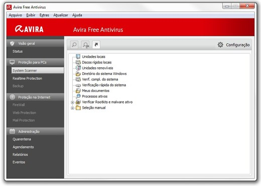 screenshot de Avira Free Antivirus