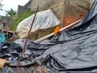 Muro de casa desaba após chuva em Bom Jesus dos Perdões, SP