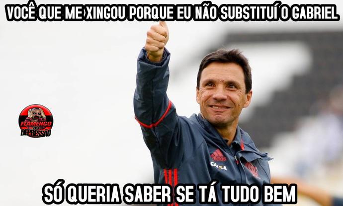 Meme Zé Ricardo Flamengo da Depressão (Foto: Reprodução/Facebook)