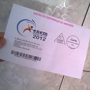 Eduardo Neves já recebeu seu quarto cartão de inscrição para o Enem (Foto: Eduardo Neves/VC no G1)