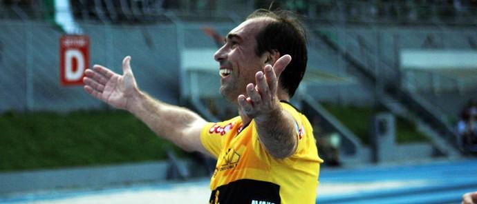 Paulo Baier comemoração gol Criciúma Metropolitano (Foto: Leonardo Zanin / Criciúma EC)