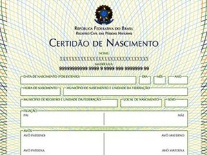 Certidão de nascimento terá o número do CPF a partir de agora (Foto: Divulgação)