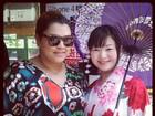 Preta Gil posa com gueixa em viagem ao Japão